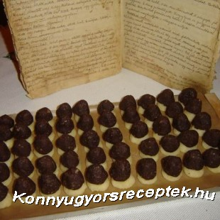 Marcipán gombák recept