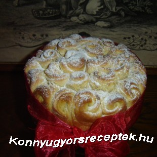 Rózsa kalács recept