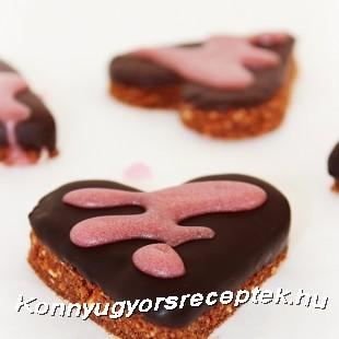 Kekszes -csokoládés szív recept