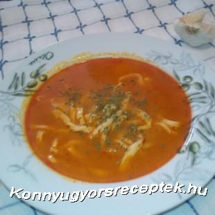 Fokhagyma-tésztaleves recept
