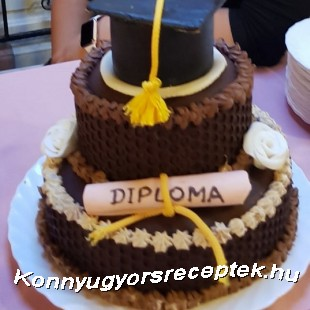 Diplomaosztóra ( rumos dió-csokoládé) recept