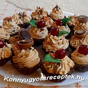 Karamellás csokis kosárka recept