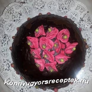 Málnás-túrós torta recept