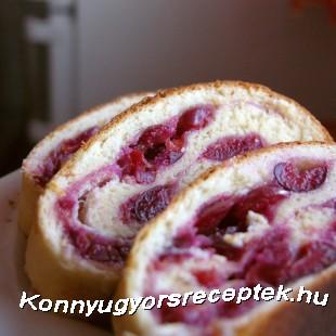 Kelttésztás cseresznyés süti recept