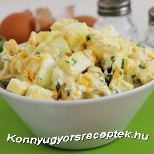 Medvehagymás tojássaláta recept
