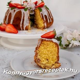 Kókuszos-epres kuglóf recept