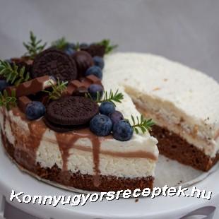 Túrós, karamellás GURU torta recept