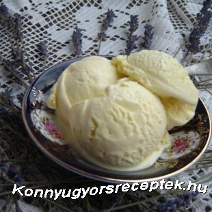 Levendulás fehércsokoládés fagyi recept