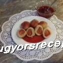 Epres gombóc eperöntettel  recept