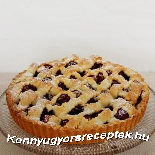 Cseresznyés-diós pite recept