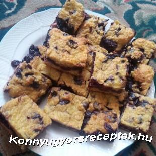 Meggyes pite (zabkásából) recept