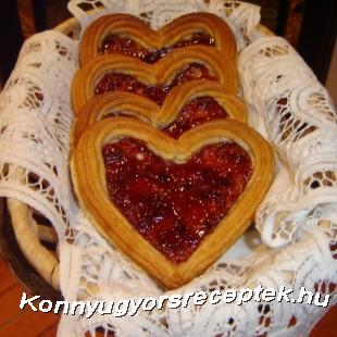 Marcipános linzer szív recept