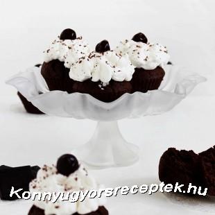 Fekete erdő muffin recept