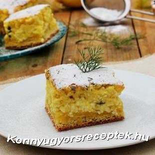 Kapros-túrós lepény. recept