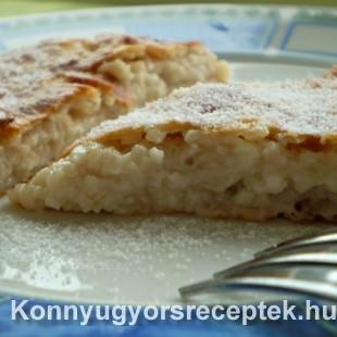 Diétás túrós-zabos pite recept