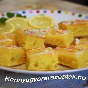 Citromos-joghurtos szeletek recept