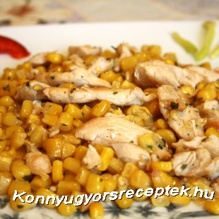 Kukoricás csirkeragu recept