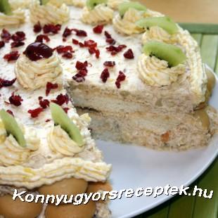 Piskótás torta (Banános) recept