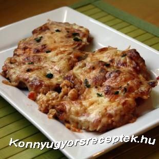 Paprikás-sajtos szelet recept