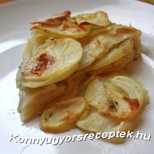 Burgonyagratin recept
