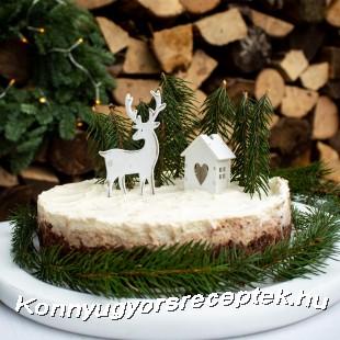 Karácsonyi gesztenye torta sütés nélkül recept