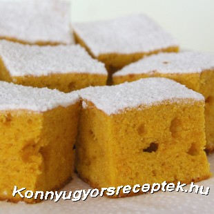 Sütőtökös kukoricás süti recept