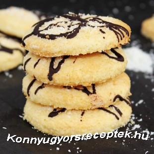 Kókuszos-csokis keksz recept