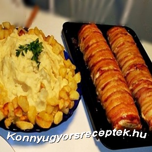 Őzgerincben sült baconos pulykamell recept