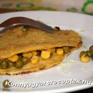 Zöldborsós-kukoricás omlett recept