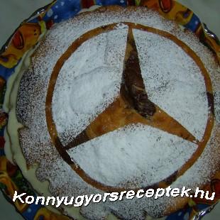 Marcipánkrémes papagájszelet torta recept