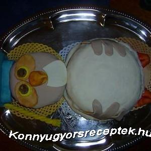 Bagoly torta recept