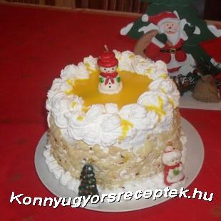 Mascarponés tojáslikőrös torta recept