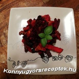 Sült cékla édesburgonyával recept