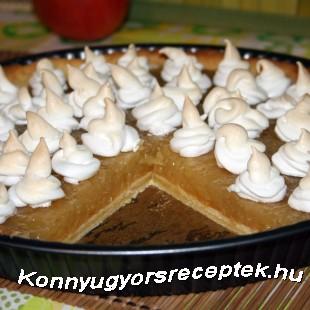 Tojáshabos almás pite recept