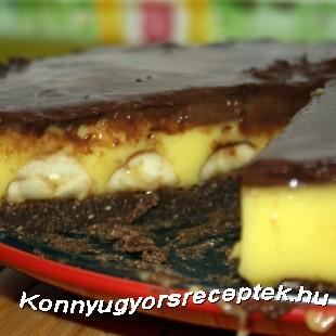 Csokoládés banános torta recept