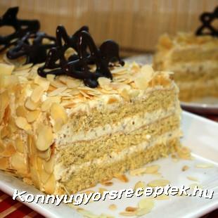 Mandulakrémes szelet recept