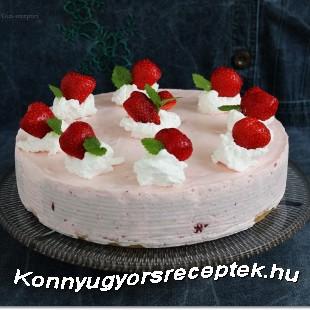 Joghurtos eperhabtorta recept