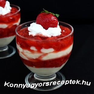 Epres-vanília pudingos pohárkrém. recept