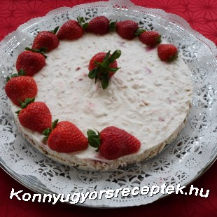 Diétás-túrós epertorta recept