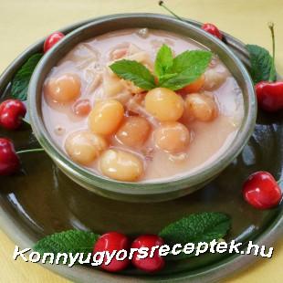Nyári gyümölcsleves-mix recept