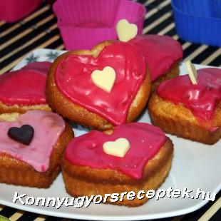 Szívküldi-muffin recept