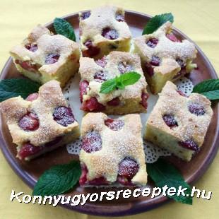 Vaníliás-cseresznyés kevert süti recept