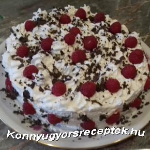 Csokis tejszínes málna torta! recept