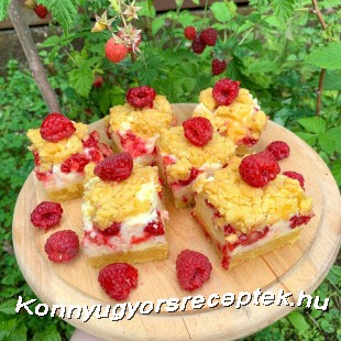 Reszelt málnás süti recept