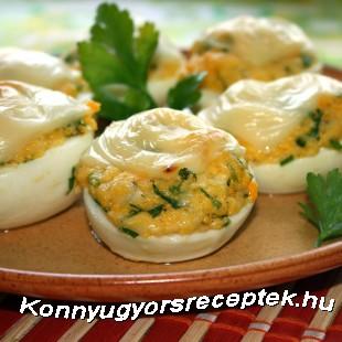 Kemény tojás sajttal sütve recept