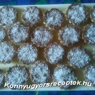 Kókuszos - kakaós kosárka recept
