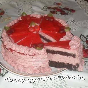 Tejszínes meggyjoghurt torta recept