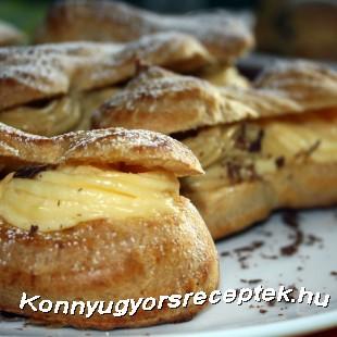 Fánk vaníliakrémmel töltve recept