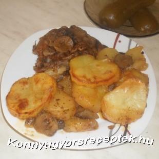 Gombás rakott hús recept