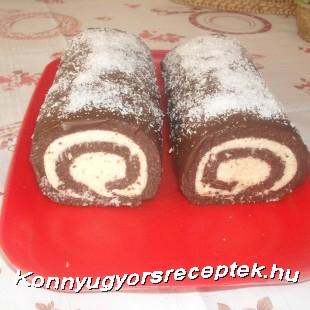 Csokoládés kókuszos tekercs recept